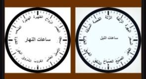 أسماء ساعات الليل والنهار عند العرب