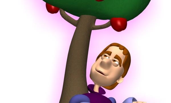 نيوتن والتفاحة ، لا بد أنه قد أكلها